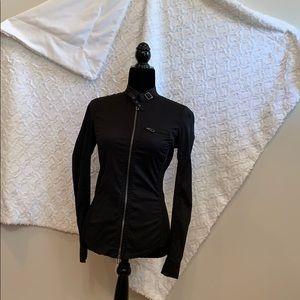 Armani exchange black Moto jacket